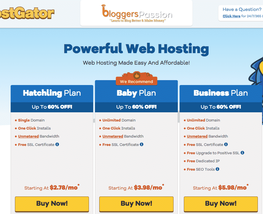 hostgator hosting exclusive