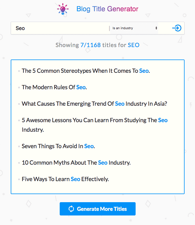 SEOPressor title tool