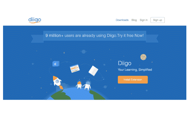 diigo bookmarking site