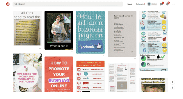 pinterest bookmarking site