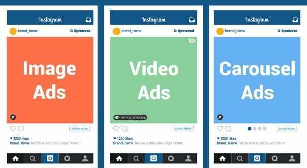 instagram ads types