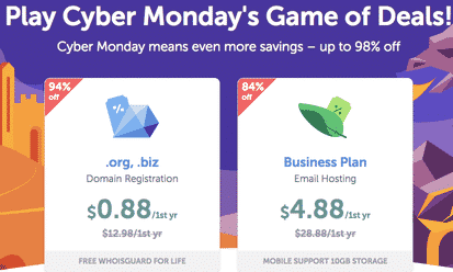 NameCheap Cyber Monday 2018– Hosting Deals and Discounts