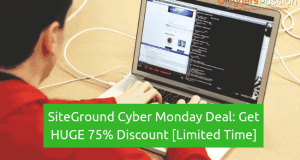 siteground cyber monday deal