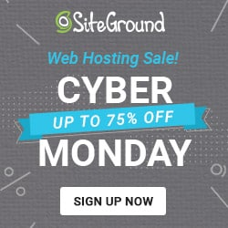 SiteGround Cyber Monday
