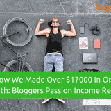 How We Made Over $17000 In Just One Month: Bloggers Passion Income Report