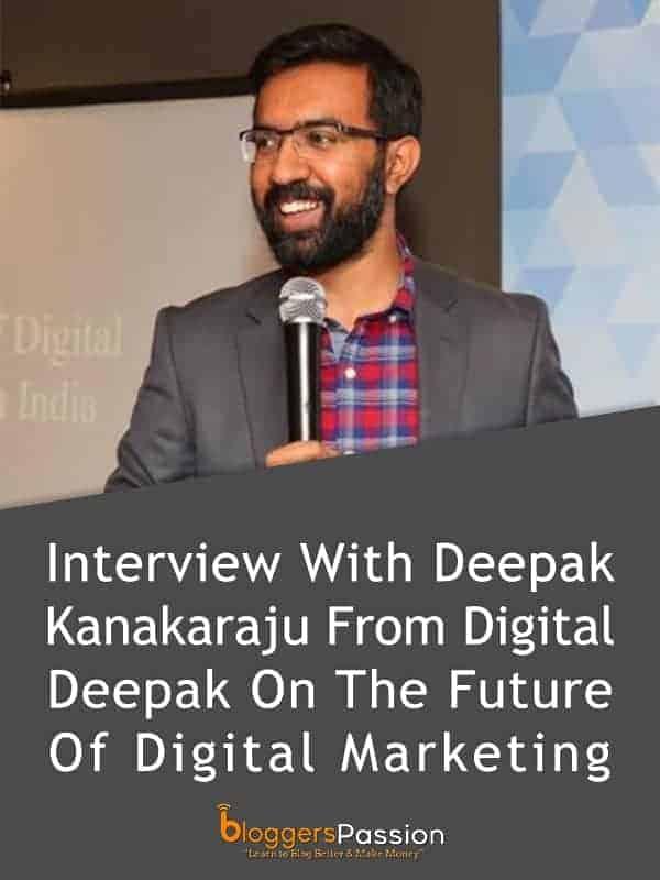 Interview with deepak kanakaraju
