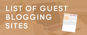 Verified list of guest posting sites
