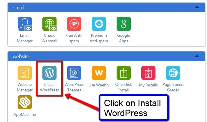 install wordpress bluehost