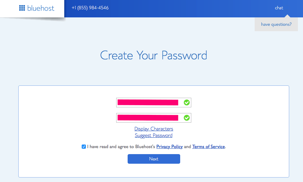 password create