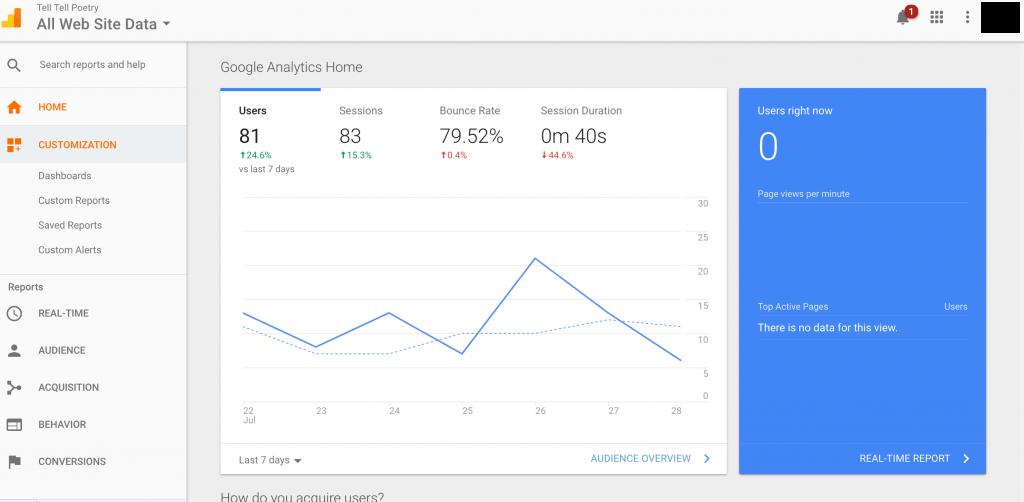analytics data results