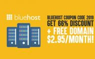 Bluehost Coupon Code 2019: [Get 66% Discount] + Free Domain: $2.95/month!