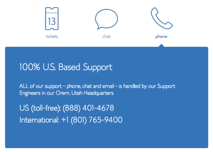 supporto per bluehost vps