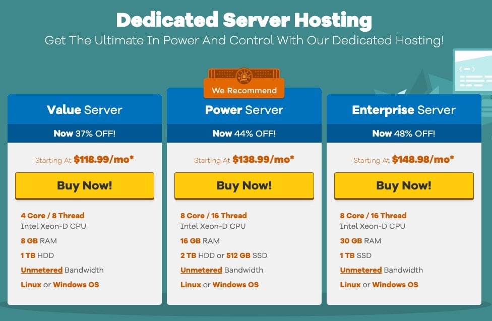 Hostgator dedicated plans