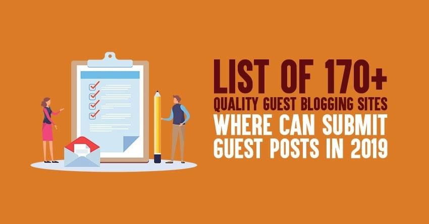 list of free guest blogging websites list for 2019