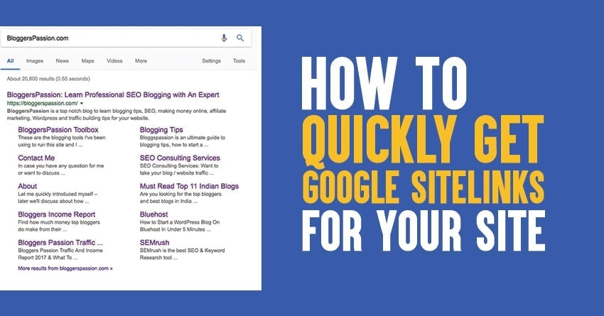 what are google sitelinks and how to get them easily