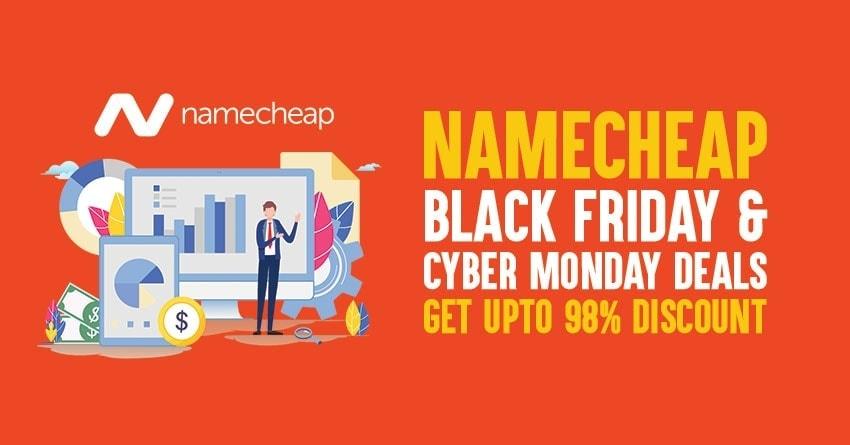 Namecheap Black Friday Cyber Monday Deal 2019