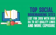 Top Social Bookmarking Sites List for 2019 with High DA to Get Quality Links and More Exposure