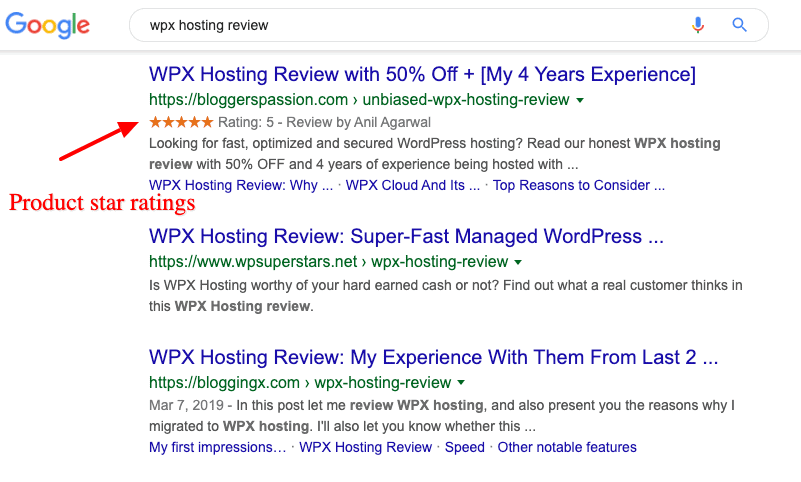 star ratings wpx