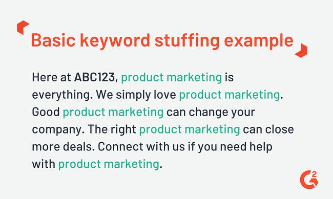 stuffing keywords example