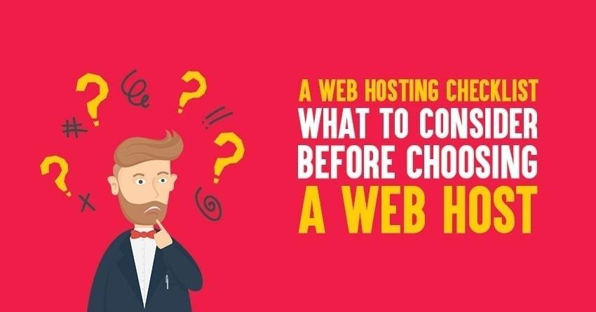 web hosting checklist