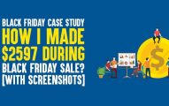 Black Friday Case Study: How I Made $2597 During Black Friday Sale? [With Screenshots]