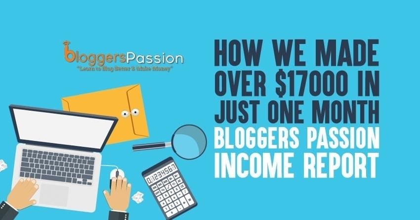 bloggers passion income report November 2018