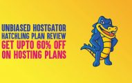 Unbiased Hostgator Hatchling Plan Review: (Get Upto 60% OFF on Hosting Plans)