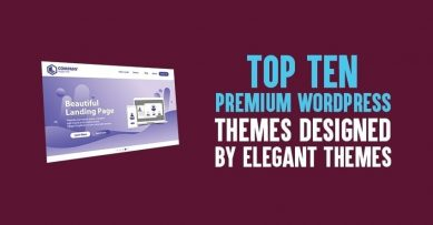 10 Best Premium Wordpress Themes Designed by Elegant Themes