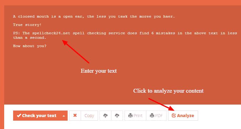 Spell Check 24 editor