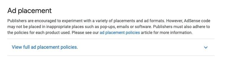 ad placing