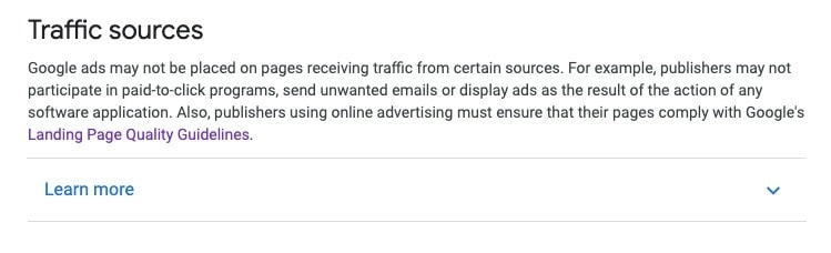 traffic sources google