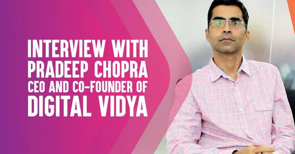 interview with pradeep chopra