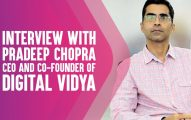 Interview With Pradeep Chopra, CEO And Co-Founder of Digital Vidya