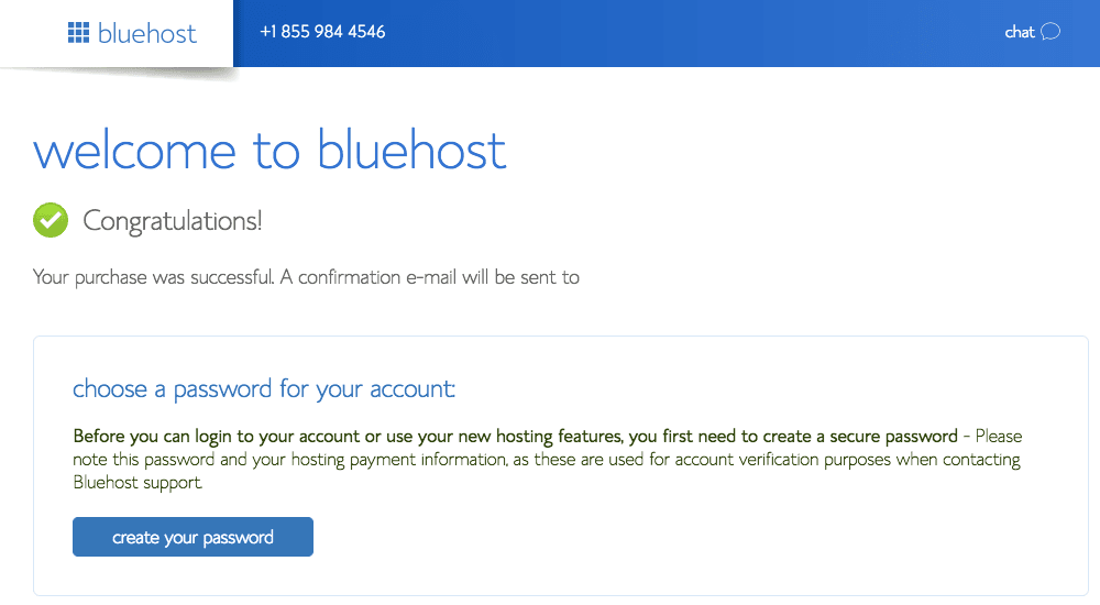 welcome bluehost
