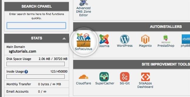 wordpress install siteground