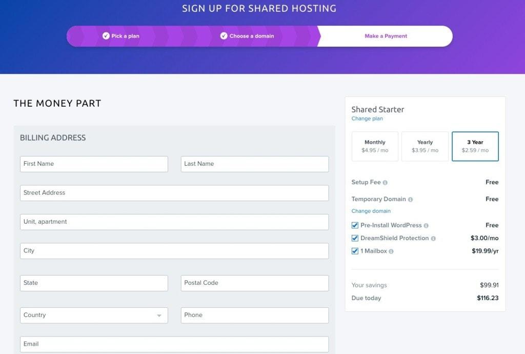 dreamhost billing