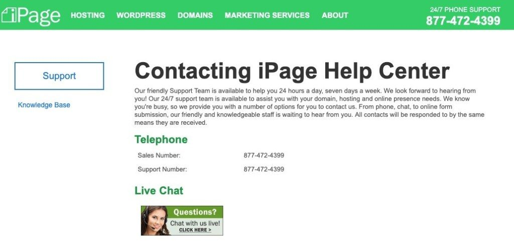 ipage support
