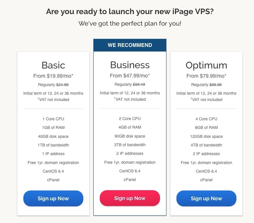 ipage vps plans