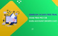 SEMrush 14 Days Free Trial: Grab SEMrush Pro or Guru Account for Free (Worth $147)