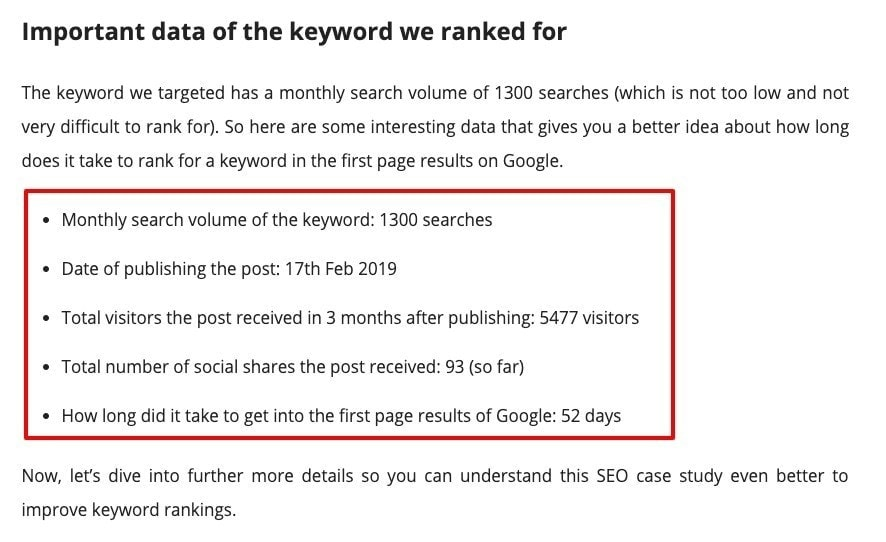 seo study result