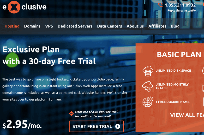 dedicated server 30 day free trial