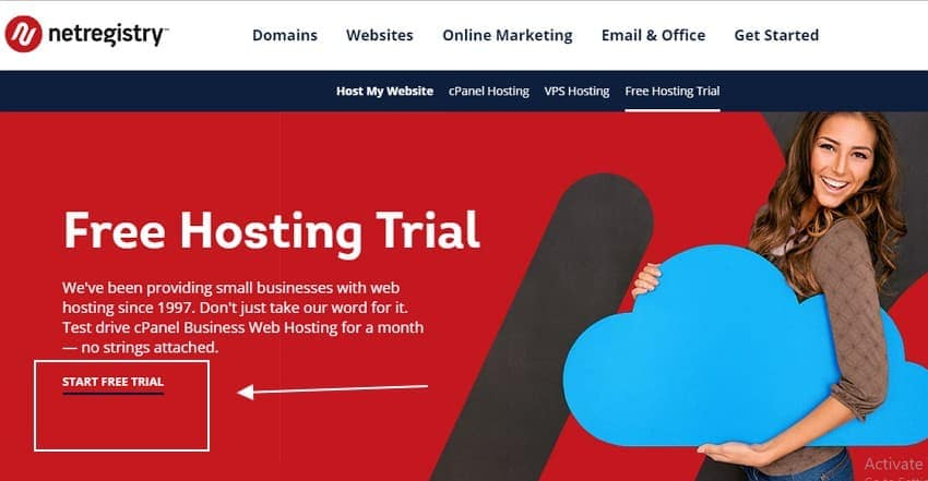 Netregistry 30 days free hosting