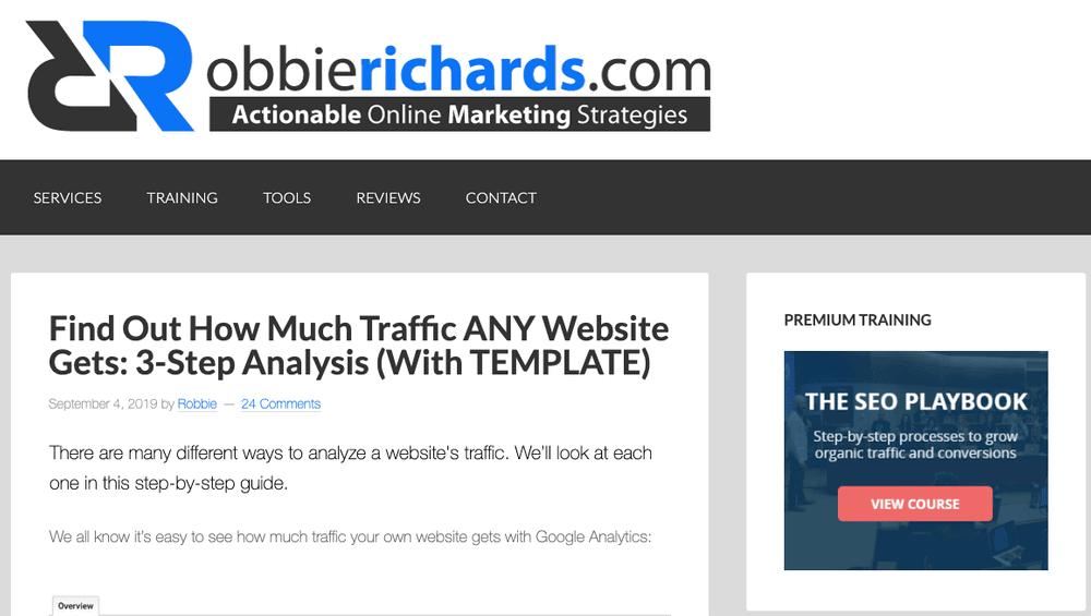 Robbie Richards blog