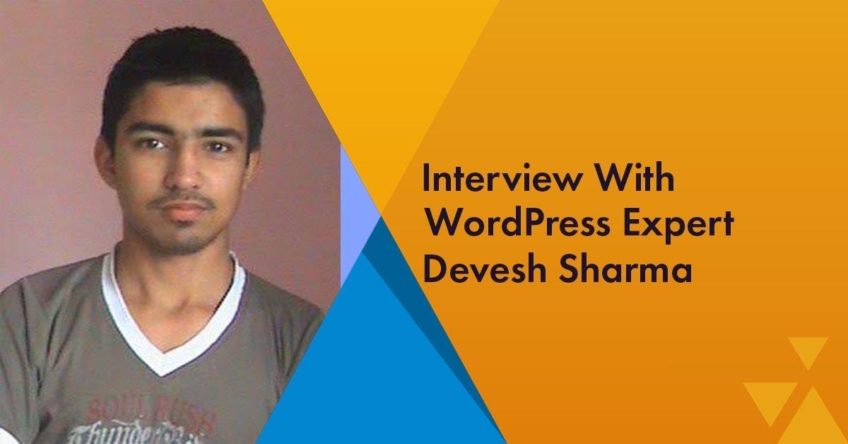 Devesh Sharma WordPress Expert