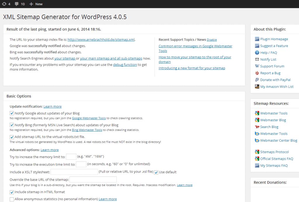 xml site haritası kurulumu