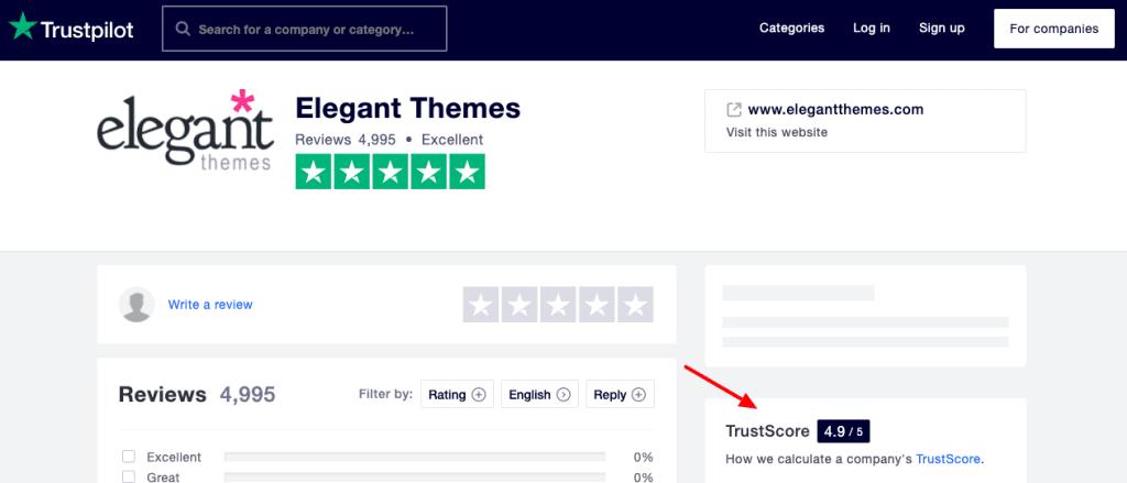 divi TrustScore