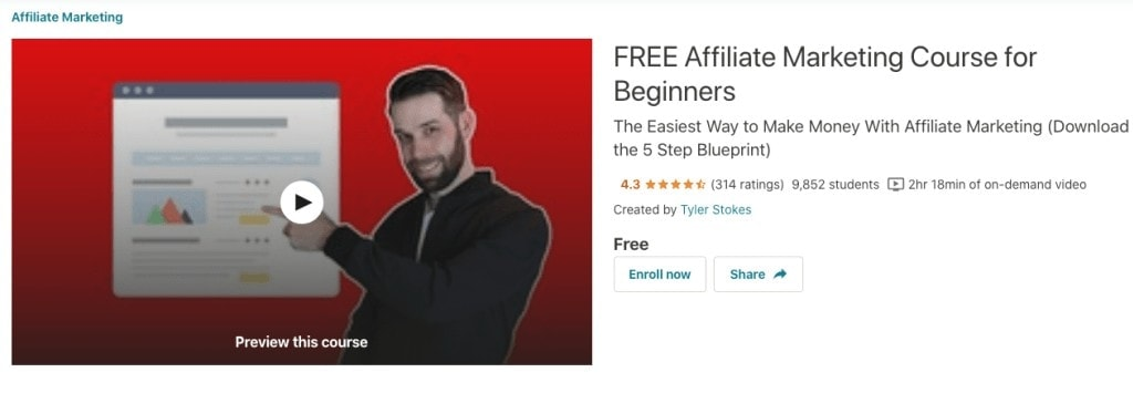 free Udemy course