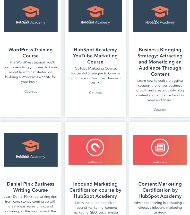 HubSpot's Blogging Courses
