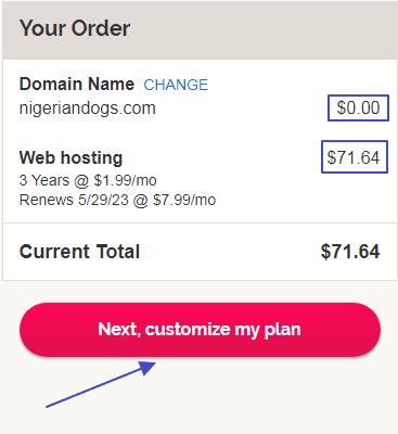 ipage customize plan