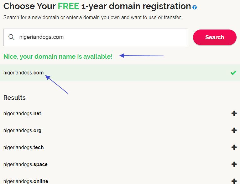 ipage domain name